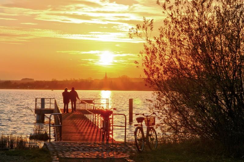 Sonnenuntergang am Uckersee bei Prenzlau