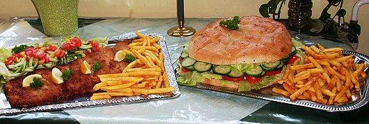 XXL-Menü in der Gaststätte Am Tanger in Dedelow bei Prenzlau